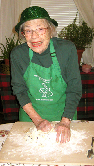 A Saint Patrick's Day image from the past: my mother kneading soda bread