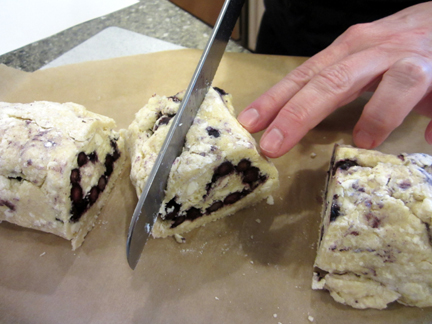 Cutting the scones